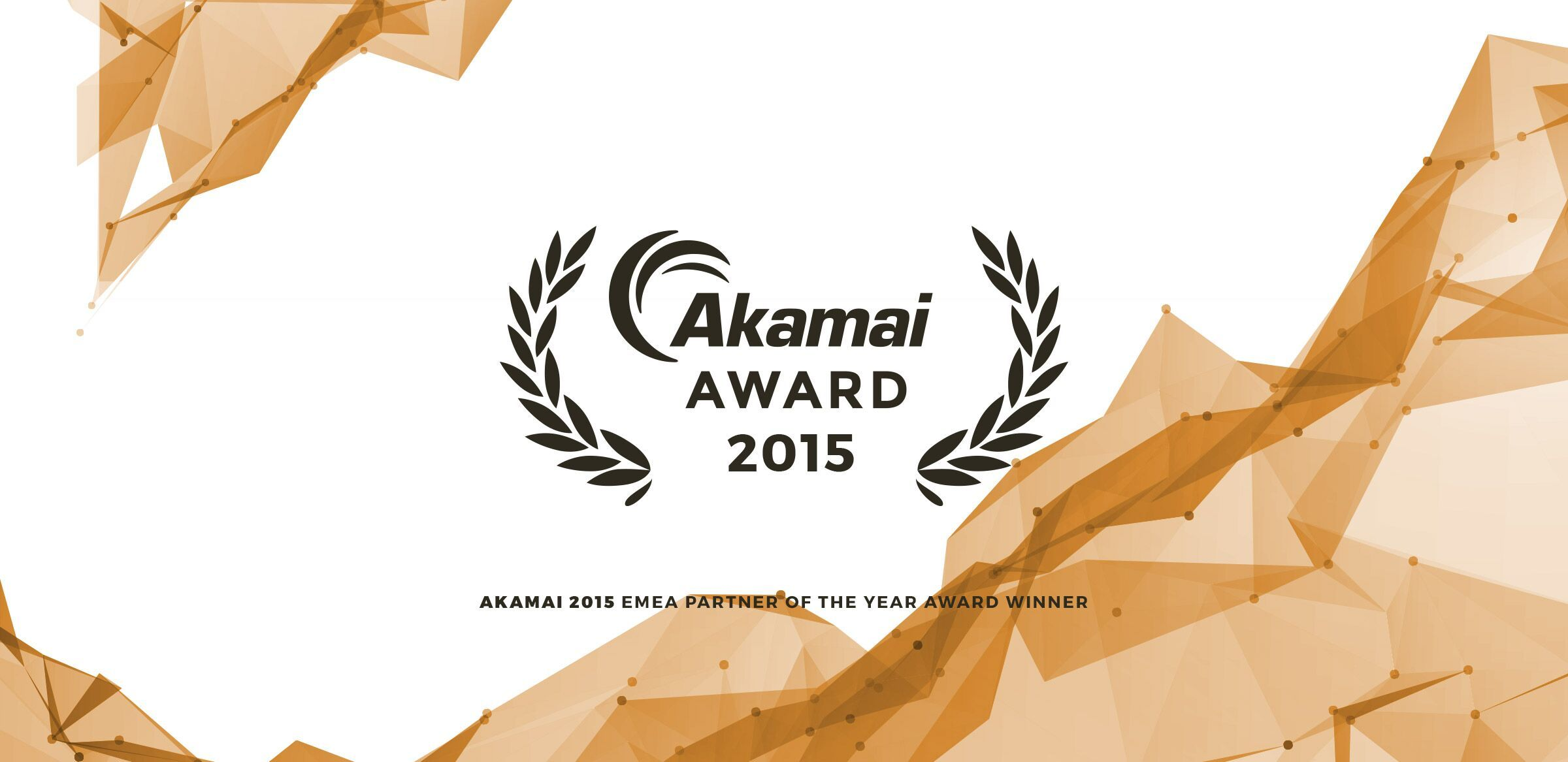 Akamai 2015 EMEA Partner of the Year Award Winner